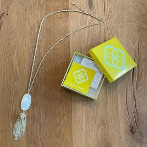 Kendra Scott Rayne Gold & Mother of Pearl Necklace